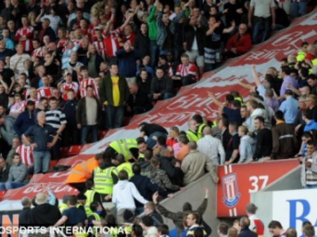 FA to probe crowd trouble at Stoke v West Ham as hooliganism fears rise