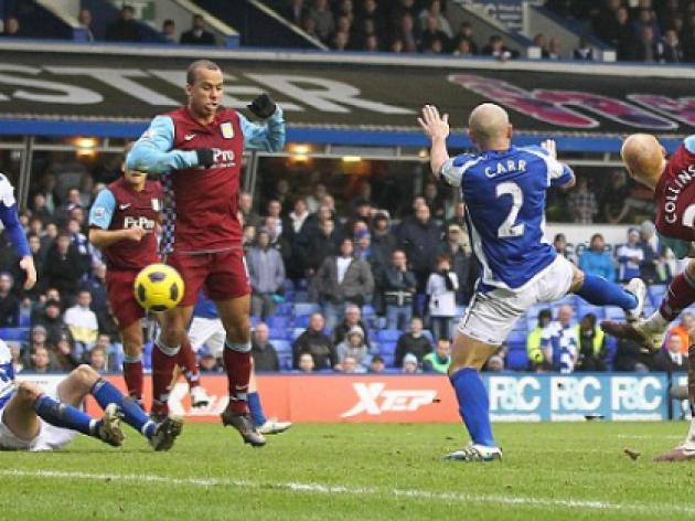 Birmingham 1 Aston Villa 1: Collins makes his point to hand Houllier a lifeline