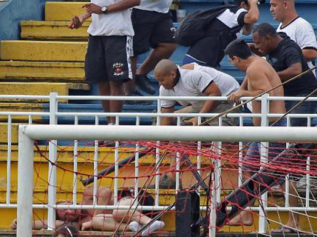 Three fans seriously hurt at Brazil league match