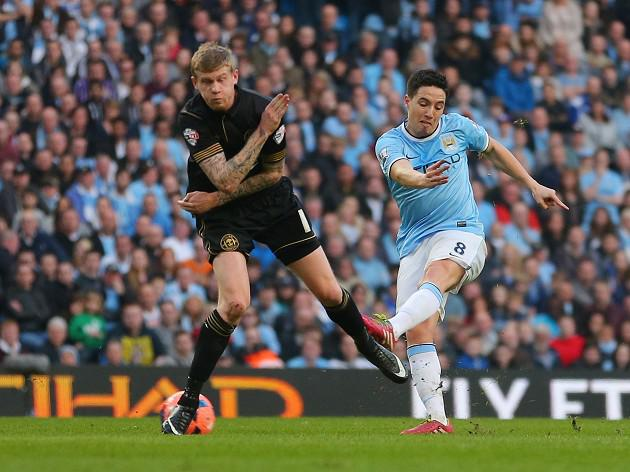 Nasri uses cup shock as Barca spur