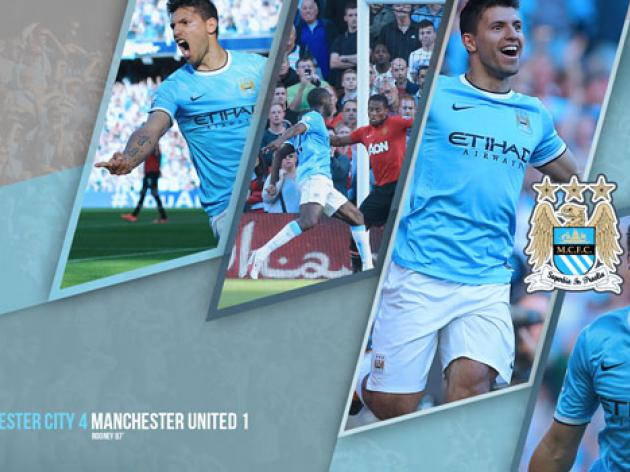 Manchester City 4 - 1 Manchester United Desktop Background