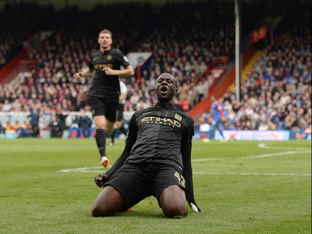 Toure inspires City to victory over Palace