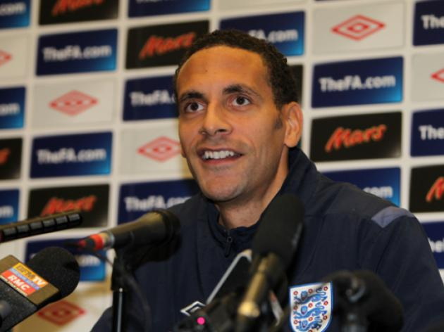 Rio Ferdinand and the Three Lions