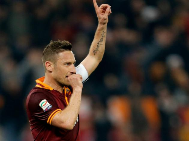 Totti strikes as Roma scrape Udinese win