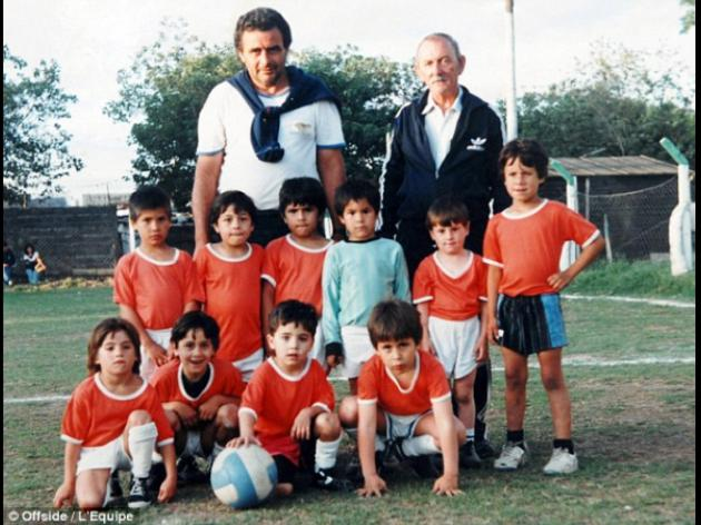 Lionel Messi pictured aged six