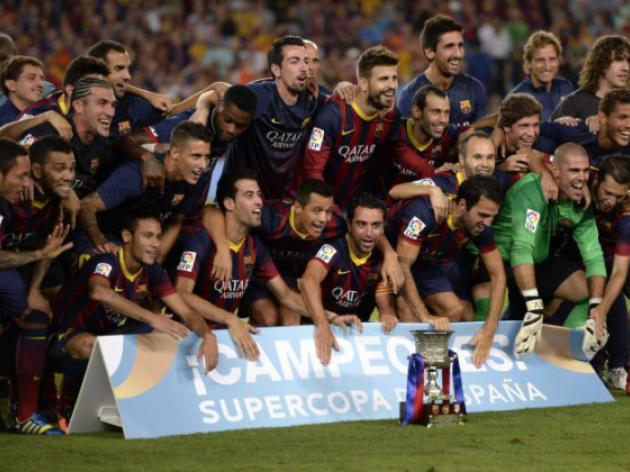 Barca claim Super Cup on away goals after stalemate