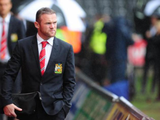 Rooney on United bench against Swansea