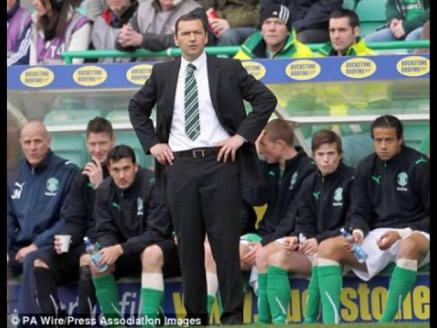 Colin Calderwood will not walk out on Hibs