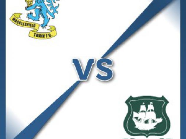 Macclesfield Town V Plymouth Argyle - Follow LIVE text commentary