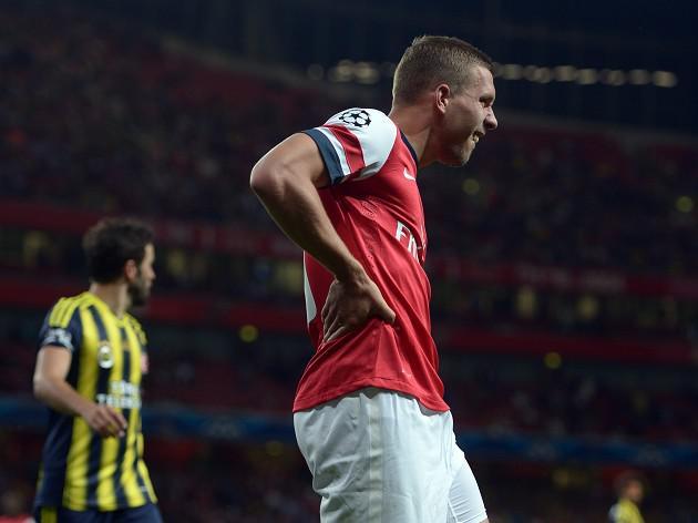 Arsenal's Podolski set for Lengthy lay-off