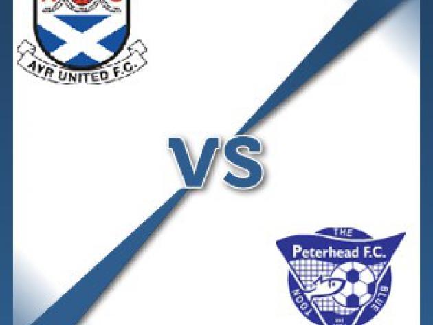 Ayr V Peterhead at Somerset Park : Match Preview