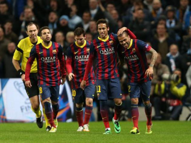 Barca travel to Sociedad buoyed by City success