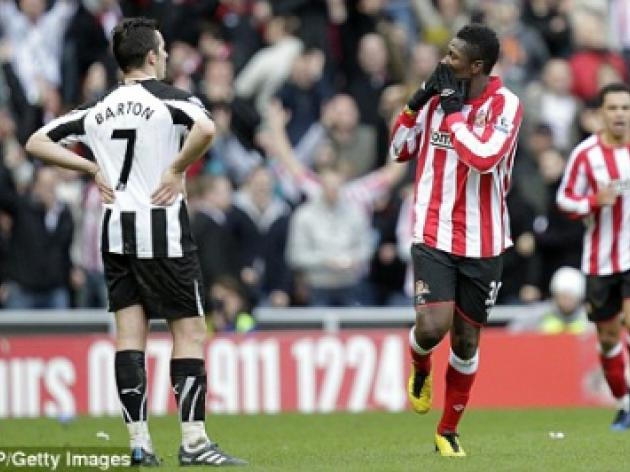 Blackpool v SUNDERLAND: Black Cats with only one fit striker in Asamoah Gyan