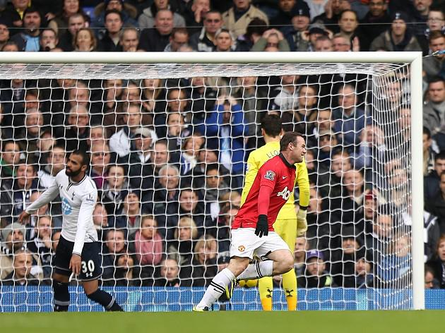 Rooney goals deny Spurs victory