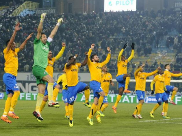 Juve open up six-point lead in Serie A