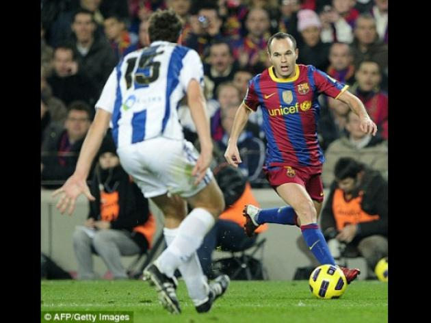 Barcelona fear a monster bid from Manchester City for Andres Iniesta