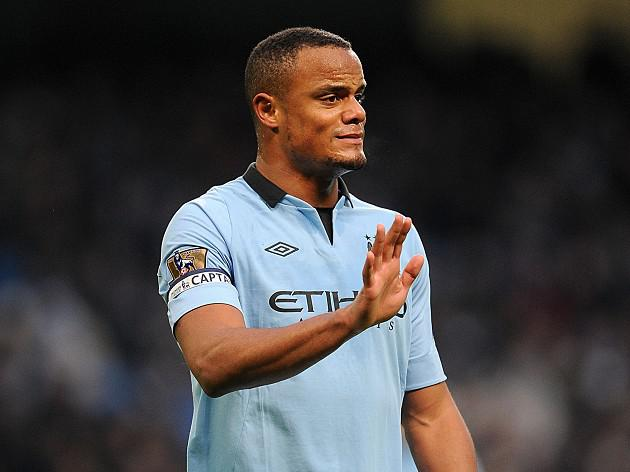 Manchester City captain Vincent Kompany remains a doubt
