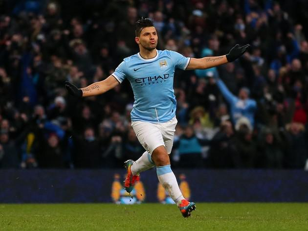Man City striker Aguero out for a month
