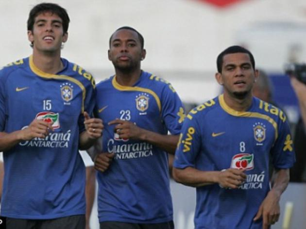 Alves fuels Robinho exit fears as Brazil star tells Barca to sign City striker