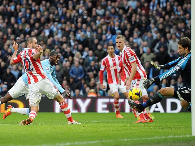 Toure strike sees off Stoke