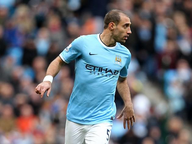 Zabaleta expects response from City