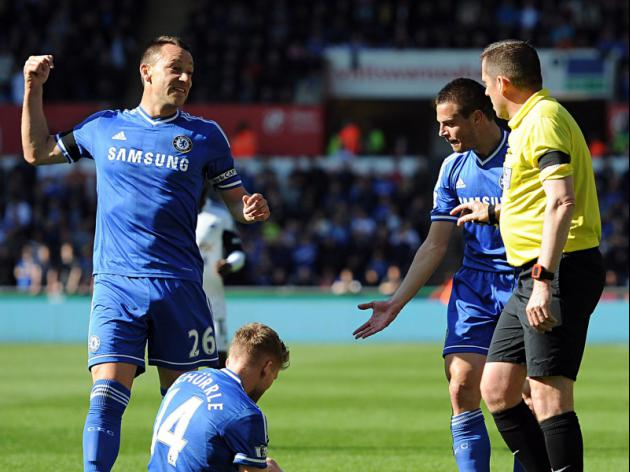 Terry admits red-card chat with referee