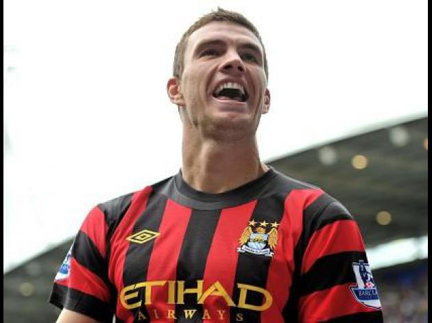 Dzeko at the double in City win