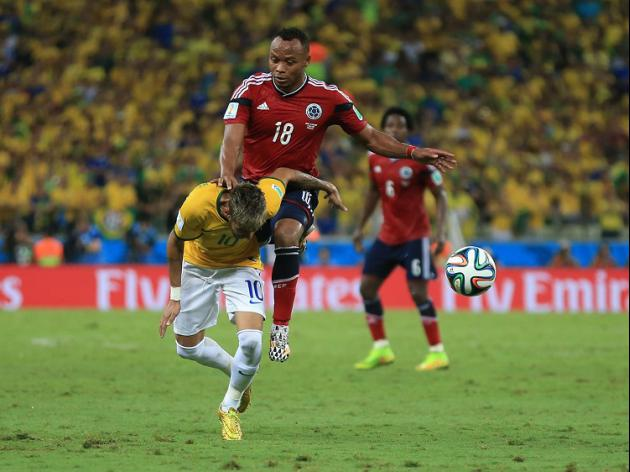 Columbian support for injured Neymar