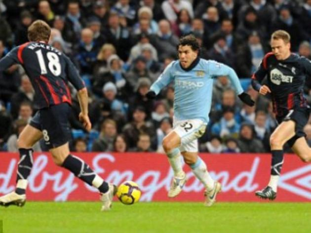 Tevez and Vieira to miss Manchester City's showdown with Liverpool