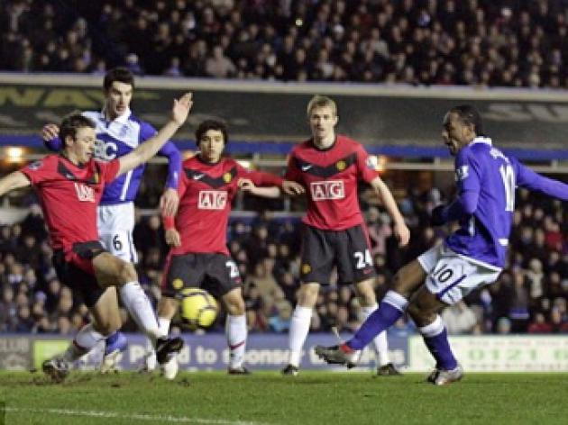 Birmingham 1 Man United 1: Dann own goal rescues point for 10-man United