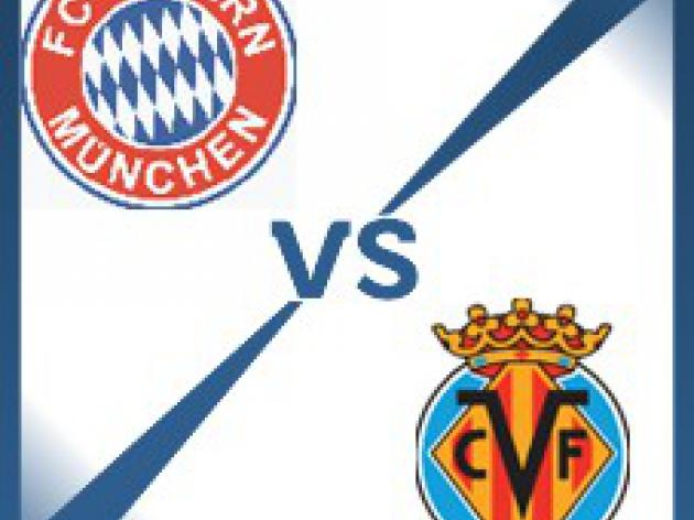 Villarreal away at Bayern Munich - Follow LIVE text commentary