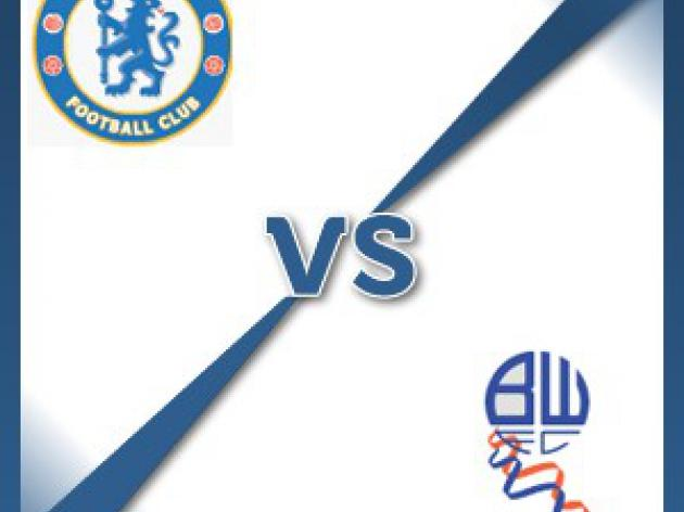 Chelsea V Bolton Wanderers - Follow LIVE text commentary