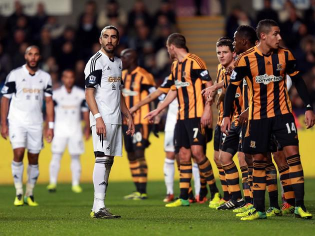Swansea and Hull fined after fracas