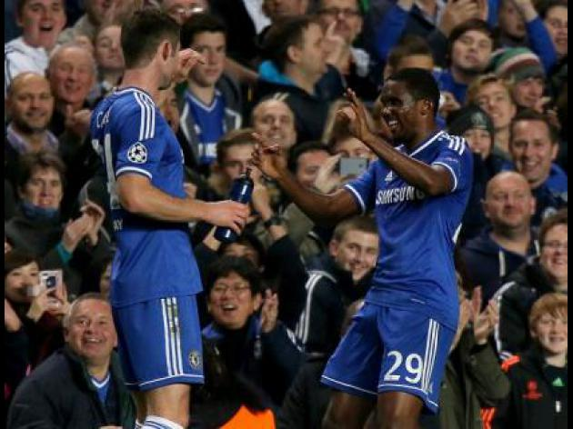 Eto'o at the double in Blues win