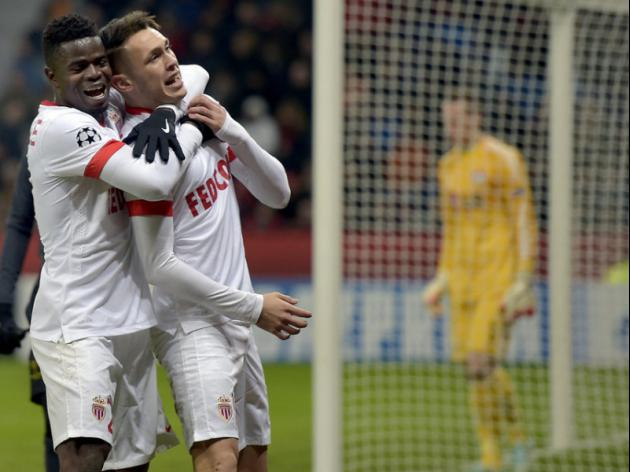Monaco win at Bayer to boost last 16 hopes