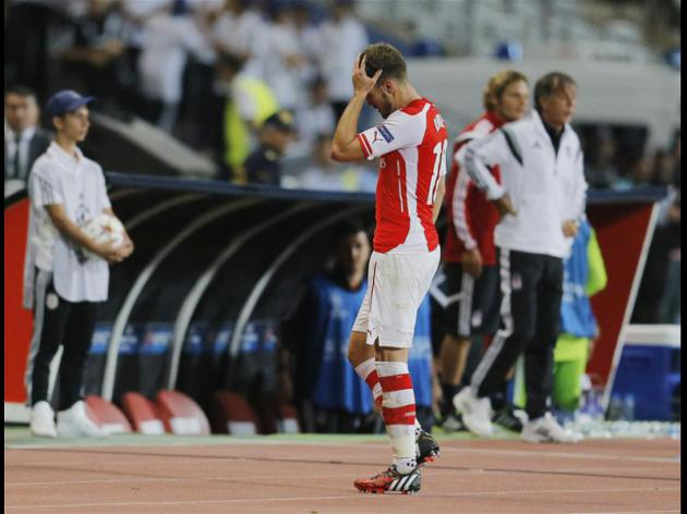 Rambo Sees Red As Arsenal Held in Champions League qualifier