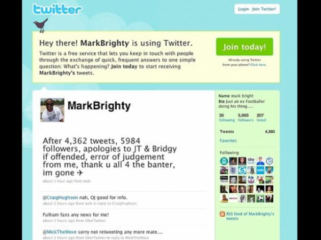 What a twit! Mark Bright apologises for going a Bridge too far with John Terry