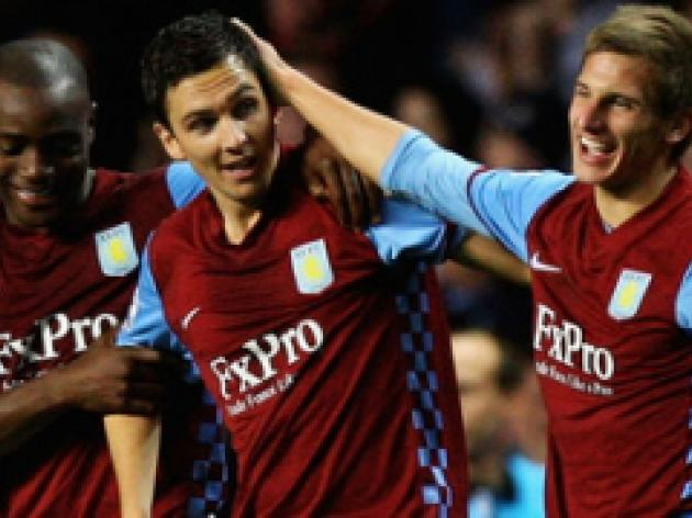 Downing delivers victory for Villa