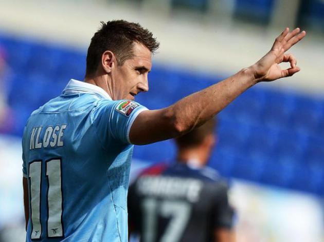 Klose relaunches Lazio, Fiorentina up to fourth