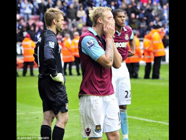 Top 10 Biggest moments of 2011 - 7 - West Ham are relegated away at Wigan