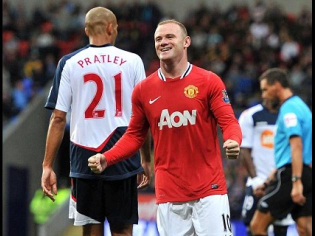 Rooney blasts hat-trick at Bolton