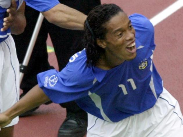 England v Brazil classics - Ronaldinho breaks England hearts in 2002