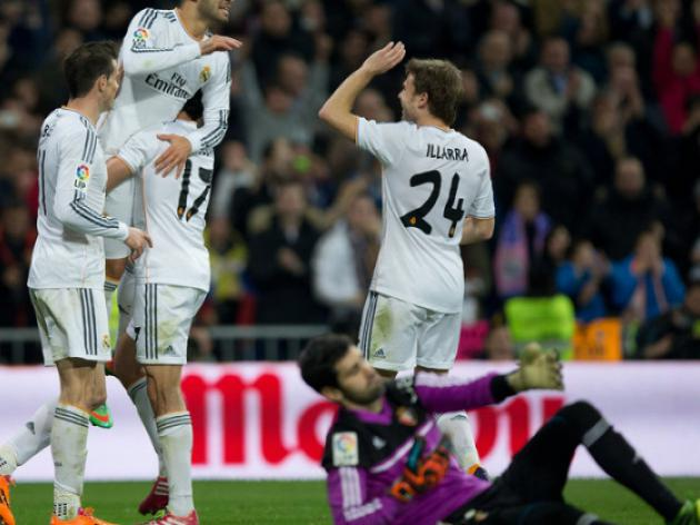 Ronaldo-less Madrid join three-way tie at top
