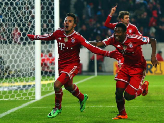 Bayern leave it late to preserve unbeaten record