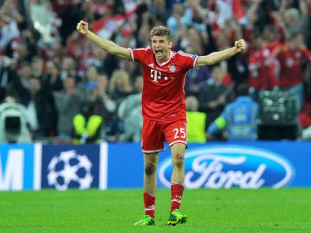 Mueller hat-trick eases Cup holders Bayern through