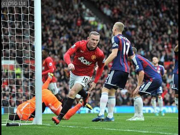 Rooney double secures United win