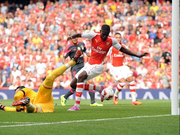 Sanogo bags four in Arsenal romp