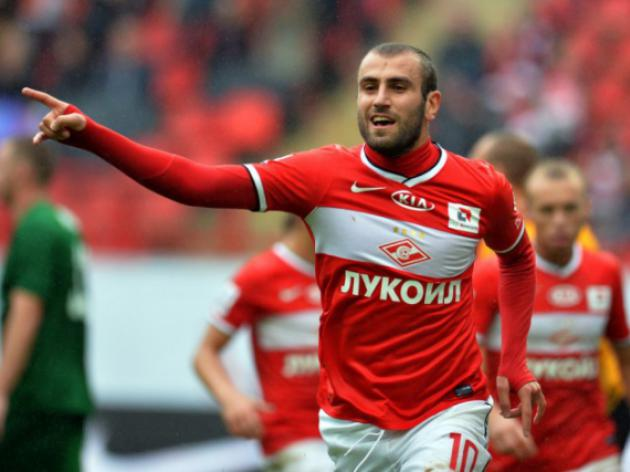 Spartak beat Anzhi to continue chasing Zenit