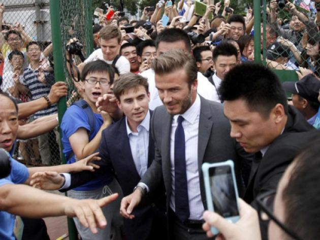 Beckham sends love to China stampede injured