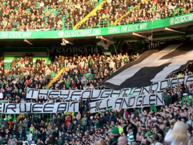 Celtic escape H block banner sanction